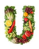 Alfabeto de frutas e hortaliças — Fotografia Stock