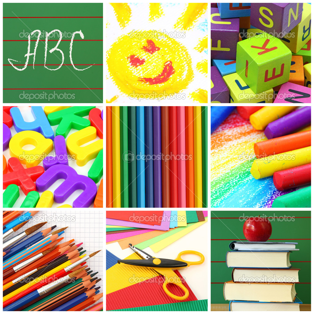 Back to school collage — Stock Photo #5451887