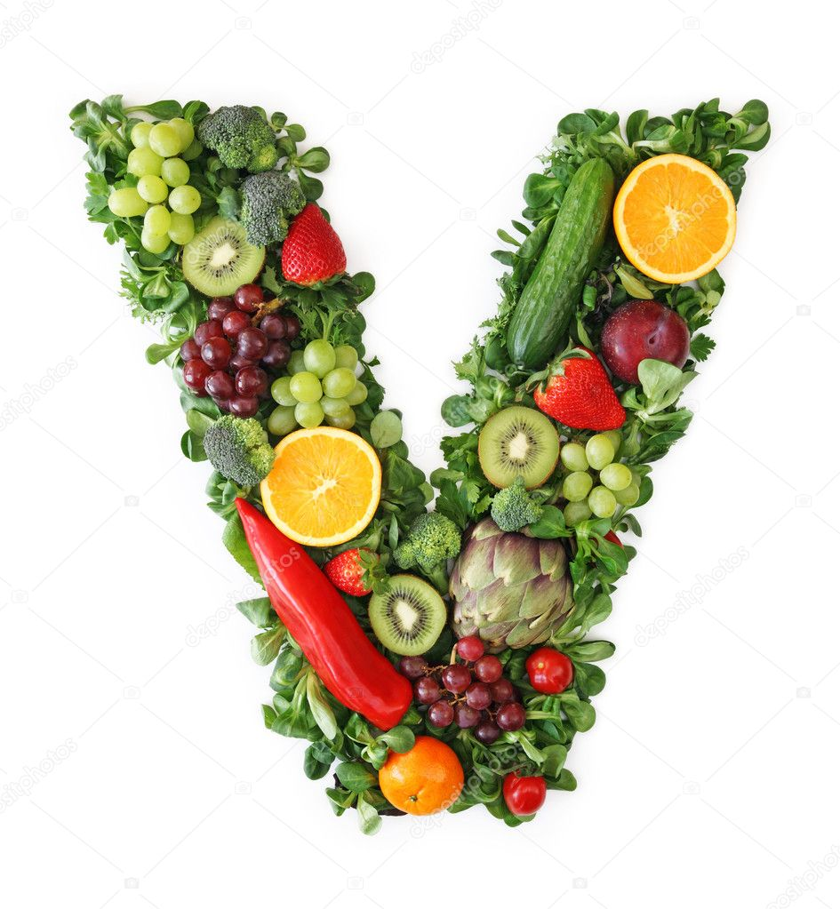 Alphabet Letters Vegetables