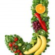 Fruit and vegetable alphabet — Stockfoto #5463672