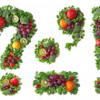 Fruit and vegetable alphabet — Stock Photo #5463677