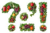 Meyve ve sebze alfabesi — Stok fotoğraf