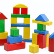 Wooden building blocks — Stock Photo