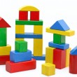 Wooden building blocks - Foto Stock