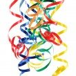 Colorful paper streamer — Stock Photo