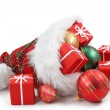 Santa Claus hat with Christmas presents — Foto de Stock