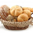 Arrangement of bread in basket — Stock Photo #5525294