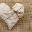Stock Photo: Heart in Wrapping Paper