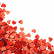 Red hearts confetti — Stock Photo