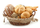 Arrangement of bread in basket — Stock Photo
