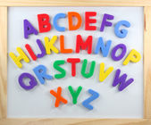 Magnet letters — Stock Photo