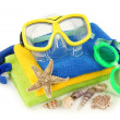 Swimming goggles and diving mask - Stock Photo