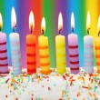 Ten birthday candles - Stock Photo