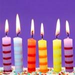 Six birthday candles — Stock Photo