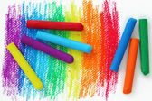 Oil Pastel Crayons — Stock Photo