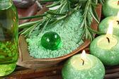 Green herbal spa — Stock Photo