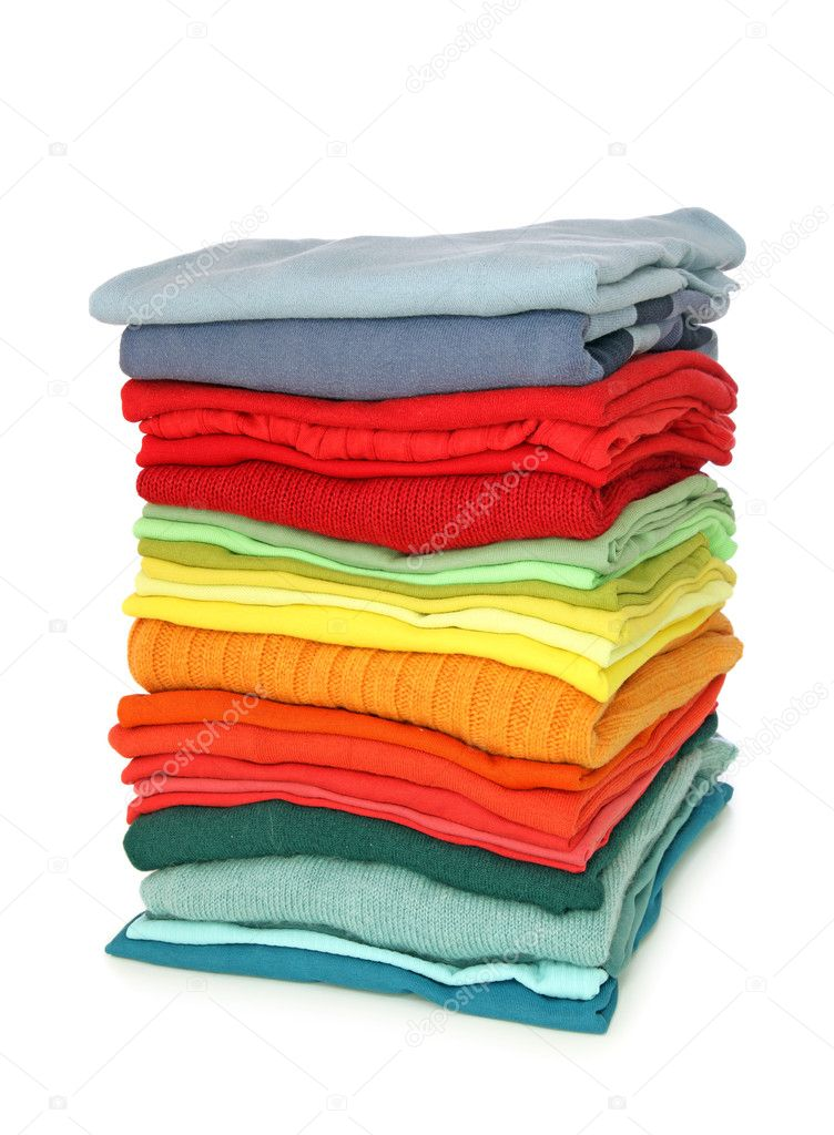 Stack of clothes isolated on white background — Stock Photo #5566835