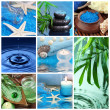 Blue spa collage — 图库照片