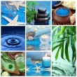 collage blu spa — Foto Stock