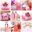 Stock Photo: Pink spa collage