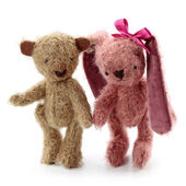 Hare toy and teddy bear — Stock Photo