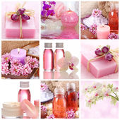 Pink spa collage — Stock Photo