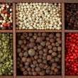 Assortment of peppercorns — Stock Photo