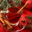 Hot winter tea - Stock Photo