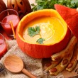 Pumpkin soup — Stock Photo #6028442
