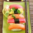 Japan traditional food sushi — Stok fotoğraf