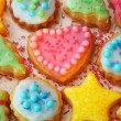 Colorful decorated cookies — Stock Photo