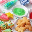 Preparing christmas cookies — Stock Photo