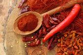 Assortment of chili, — Stock Photo