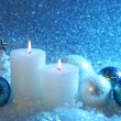 White and blue christmas — Foto de Stock