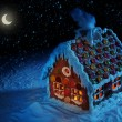 Homemade gingerbread house — Stock Photo #6031801