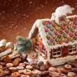 Royalty-Free Stock Photo: Homemade gingerbread house