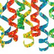 Curly ribbons — Stock Photo