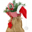 Sack with christmas presents — Stock Photo
