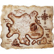 Old treasure map - Stock Photo