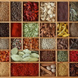 Spices in wooden box - Foto Stock