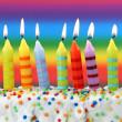 Nine birthday candles — Stock Photo