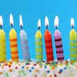 Nine birthday candles — Stockfoto