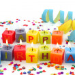 Birthday candles — Stock Photo #6034626