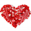 Foto Stock: Fruit candy heart