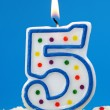 Number five birthday candl - Stock Photo