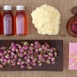 Stock Photo: Rose petals spa