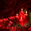 Christmas candles — Stockfoto #6038587