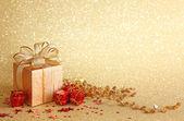 συσκευασία δώρου χριστουγέννων — Φωτογραφία Αρχείου