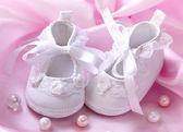 Botki baby biały — Zdjęcie stockowe