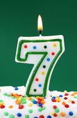 Number seven birthday candle — Stock Photo